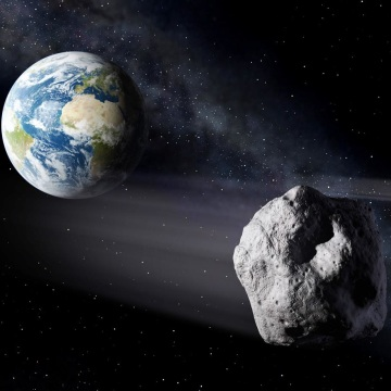 Image: Asteroid pass