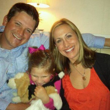 Andrea Villenga with her husband Mike and their daughter Lydia