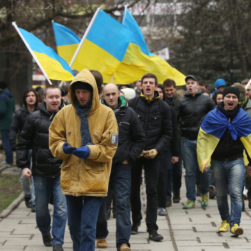 Image: Ukraine Crisis Continues As The Crimea Prepares To Vote In The Referendum