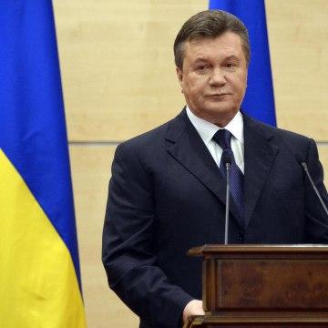 Image: Deposed Ukrainian president Viktor Yanukovych