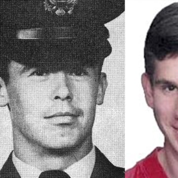 Image: Captain Doug Ferguson, left, went missing in action in 1969. Jason Jolkowski was 19 when he disappeared.