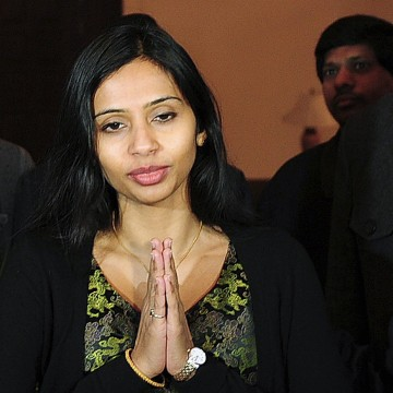 Image: File of Indian diplomat Devyani Khobragade gestures upon her arrival at Maharashtra Sadan state guesthouse in New Delhi