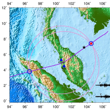 "Image: Map of a ""seismic event"" consistent with an airplane crash"