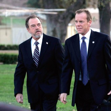 """Image: Gregory Itzin and Kiefer Sutherland in a scene from """"24""""."""
