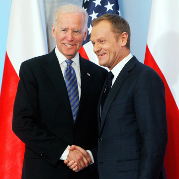 Image: Joe Biden, Donald Tusk