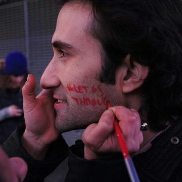 Image: Times Square Syria flash mob
