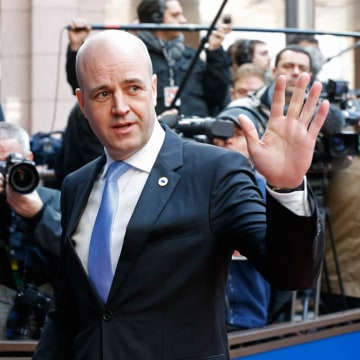 Image: Sweden's Prime Minister Fredrik Reinfeldt on March 6