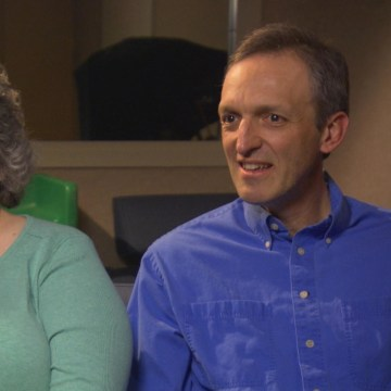 Image: Adoptive parents Shelli and John Giess