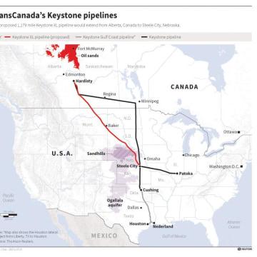 Graphic: TransCanada's Keystone pipelines