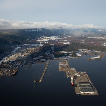 Image: The proposed termination point for the Enbridge Northern Gateway Project