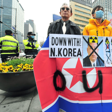 Image: SKOREA-NKOREA-PROTEST