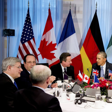 Image: U.S. President Obama participates in a G7 leaders meeting during the Nuclear Security Summit in The Hague