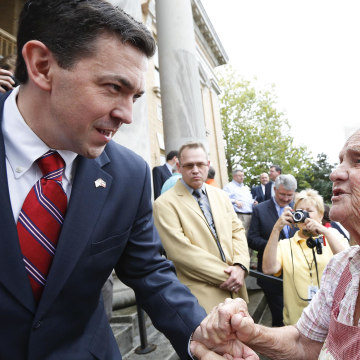 Image: Second-term state Sen. Chris McDaniel, R-Ellisville, left
