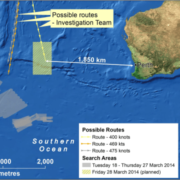 Image: Search Area For MH370 Shifts Closer To Australian Coast