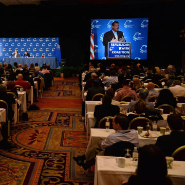 Image: NJ Gov. Chris Christie Speaks At Republican Jewish Coalition Leadership Meeting In Vegas