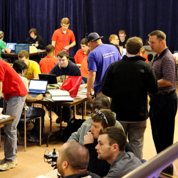 Image: Cybersecurity: Operation Cyber Blizzard competitors hard at work