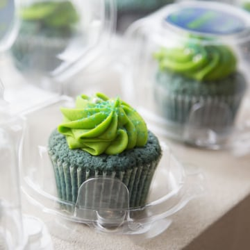 Image: Seattle Seahawks-themed marijuana cupcakes are displayed at the Queen Anne Cannabis Club in Seattle