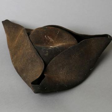 Image: A tri-corner hat, an artifact saved from the makeshift Boston Marathon bombing memorial