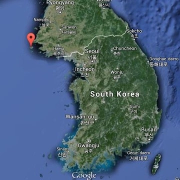 A map showing the island of Baengnyeong, South Korea, where a drone thought to be from the North was found Monday.