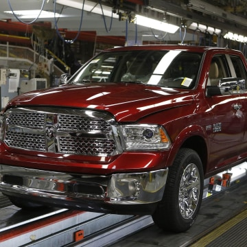 Chrysler Group sales rose 13 percent in March. General Motors delayed its sales figures hours before CEO Mary Barra was to testify to Congress about GM's big recall.