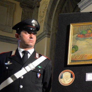 Image: ITALY-BRITAIN-FRANCE-CRIME-ART