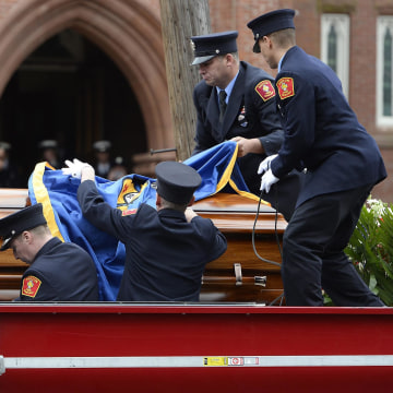 Image: Funeral for Boston Fire Department Lt Edward Walsh