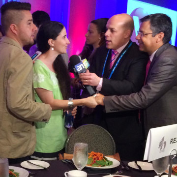 Image: Yoani Sanchez speaks to the media at the Hispanicize 2014 event