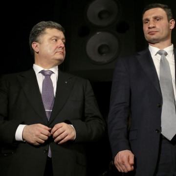 Image: Petro Poroshenko, left, and Vitali Klitschko
