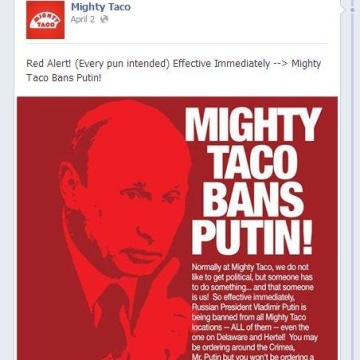 Mighty Taco bans Putin