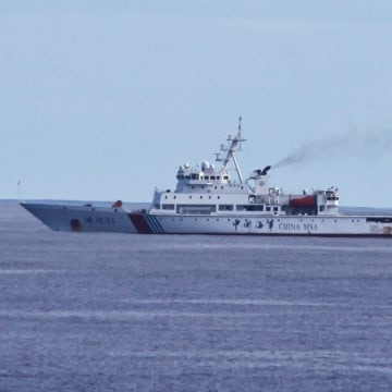 Image: Chinese patrol ship Haixun 01 is pictured during a search for the missing Malaysia Airlines MH370, in the south Indian Ocean