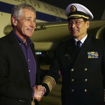 Image: U.S. Defense Secretary Chuck Hagel Visits China