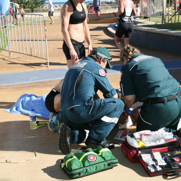 Raija Ogden was taking part in a triathlon in western Australia when she was injured in an incident involving a drone.