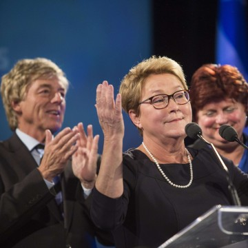 Image: Quebec Premier Pauline Marois announces her retirement after losing her seat