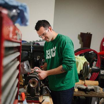 Image: Pete makes groomsmen gifts