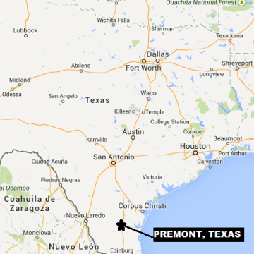 IMAGE: Map locating Premont, Texas