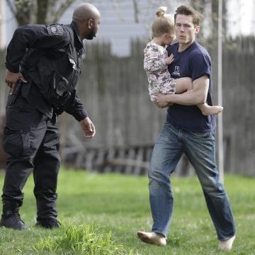 Image: Watertown community evacuated during manhunt