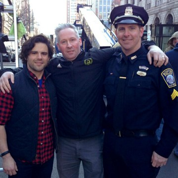 Image: Three men who aided Sydney Corcoran after she was seriously wounded in the Boston Marathon bombing