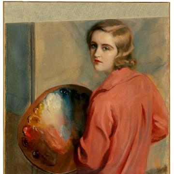 A self-portrait by Huguette Clark.