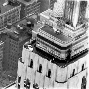 Ford Mustang atop the Empire State Building
