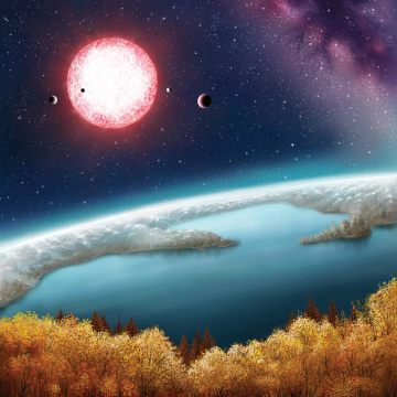 Artwork: View of Kepler-186f