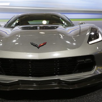 The new 2015 Corvette Z06 is seen on display at the New York International Auto Show.