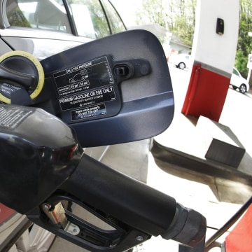 Gasoline prices are at their highest in a year as the Ukraine crisis has pushed up the price of crude oil.