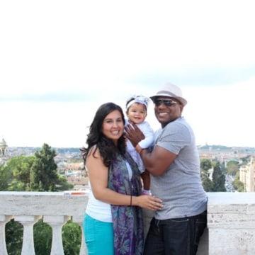 "Image: ""Making Hispanics"" author and sociologist G. Cristina Mora with her husband and daughter."