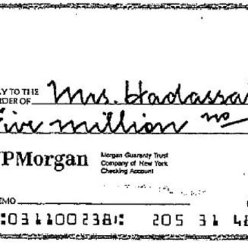Image: Check for $5 million to Huguette Clark's nurse