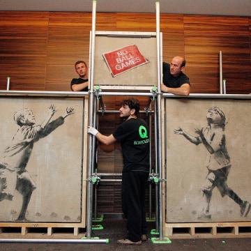 Image: Banksy Street Art Restored For Auction