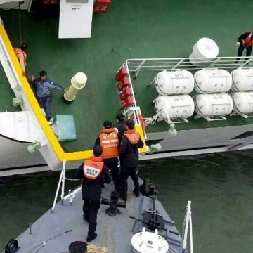 Image: Ferry sinking off South Korea