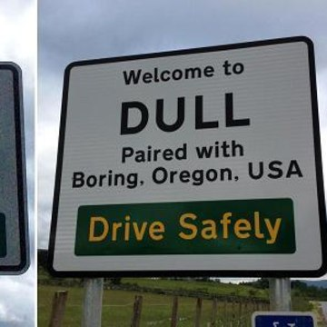 Image: Boring and Dull signs