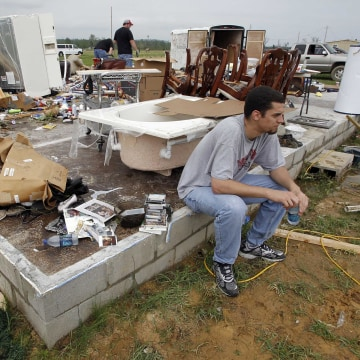 Image: Aftermath of tornado in Vilonia, Arkansas, on April 26, 2011