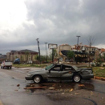 Image: Tornado damage in Tupelo, Miss., on Monday, April 28, 2014.