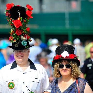 Image: Hats are the thing at the Kentucky Derby